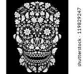day of the dead skull | Shutterstock .eps vector #119829247