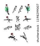 set of tattoo illustrations ... | Shutterstock .eps vector #1198299007