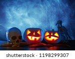 halloween holiday concept.... | Shutterstock . vector #1198299307