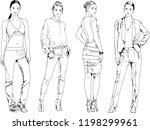 vector drawings on the theme of ... | Shutterstock .eps vector #1198299961