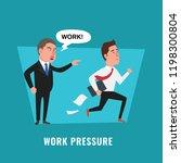 work pressure illustration.... | Shutterstock .eps vector #1198300804