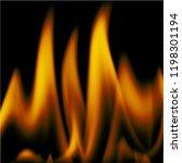 red orange flames of fire... | Shutterstock .eps vector #1198301194