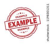 example grunge stamp on white... | Shutterstock .eps vector #1198301311