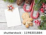 christmas blank photo frame ... | Shutterstock . vector #1198301884