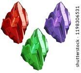 crystal vector set. crystalline ... | Shutterstock .eps vector #1198306531