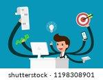 busy businessman enjoy work... | Shutterstock .eps vector #1198308901