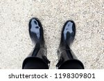 black boots standing on small... | Shutterstock . vector #1198309801