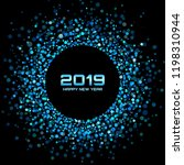 new year 2019 card background.  ... | Shutterstock . vector #1198310944
