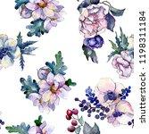 Watercolor Colorful Bouquet...