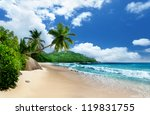 Beach At Mahe Island  ...