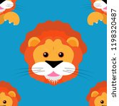 lion cub seamless pattern....   Shutterstock .eps vector #1198320487
