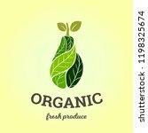 elegant logo in pear shape for... | Shutterstock .eps vector #1198325674