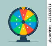 wheel of fortune vector... | Shutterstock .eps vector #1198330351