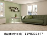 white room with sofa and winter ... | Shutterstock . vector #1198331647