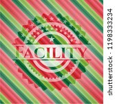 facility christmas style emblem.   Shutterstock .eps vector #1198333234