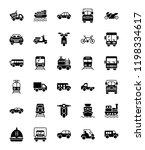 transportation glyph vector... | Shutterstock .eps vector #1198334617