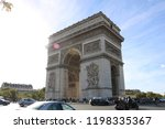 arch of triumph  champs elysees ...   Shutterstock . vector #1198335367