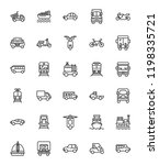 transportation line vector icons | Shutterstock .eps vector #1198335721