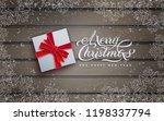 christmas banner  wooden... | Shutterstock .eps vector #1198337794