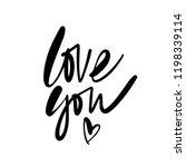 Love You Callygraphy. Mondern...