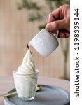 espresso affogato ice cream. | Shutterstock . vector #1198339144