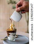 espresso affogato ice cream.   Shutterstock . vector #1198339147