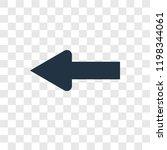 left arrow vector icon isolated ...