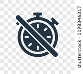 timer off vector icon isolated...