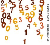 falling colorful numbers on... | Shutterstock .eps vector #1198346551
