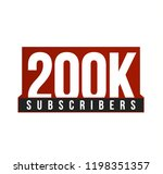 subscribers number vector icon. ... | Shutterstock .eps vector #1198351357