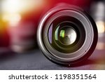 photo lens front view on... | Shutterstock . vector #1198351564