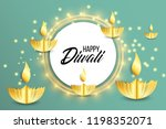 happy diwali. paper graphic of... | Shutterstock .eps vector #1198352071