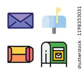 correspondence icon set. vector ... | Shutterstock .eps vector #1198353031