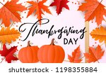 happy thanksgiving day greeting ... | Shutterstock .eps vector #1198355884