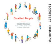 isometric disabled people... | Shutterstock .eps vector #1198363081
