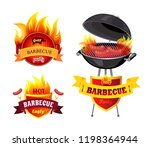 grill bbq barbecue party... | Shutterstock .eps vector #1198364944