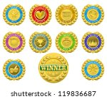 golden winners medals like...   Shutterstock . vector #119836687