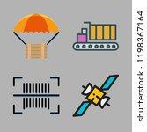 shipment icon set. vector set...   Shutterstock .eps vector #1198367164