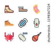 leg icon set. vector set about... | Shutterstock .eps vector #1198367224
