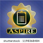 gold emblem or badge with list ... | Shutterstock .eps vector #1198368484