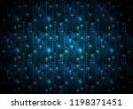 abstract blue matrix symbols ... | Shutterstock .eps vector #1198371451