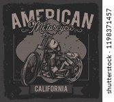 american chopper. vector... | Shutterstock .eps vector #1198371457