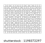 300 white puzzles pieces... | Shutterstock .eps vector #1198372297