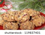 Pile Of Cranberry Nut Cookies...