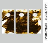 set of vector business card...   Shutterstock .eps vector #1198374544