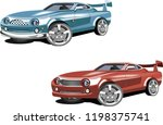 couple of speed cars isolated... | Shutterstock .eps vector #1198375741
