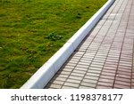 stone path in the park and... | Shutterstock . vector #1198378177