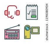 microphone icon set. vector set ...   Shutterstock .eps vector #1198380904