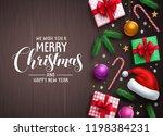 christmas background vector... | Shutterstock .eps vector #1198384231