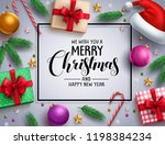 christmas vector background... | Shutterstock .eps vector #1198384234